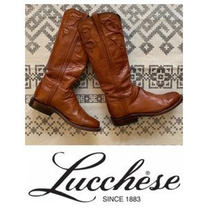 Lucchese Boots In Cognac Leather